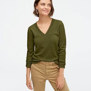 J. Crew Cashmere V-neck Fitted Sweater